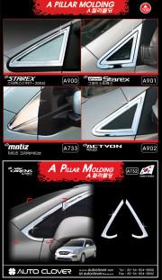 Hyundai Grand Starex 2007-2011 - Хромированные накладки на форточку фото, цена