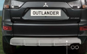 Mitsubishi Outlander 2007-2012 - Накладка заднего бампера (серебро) фото, цена
