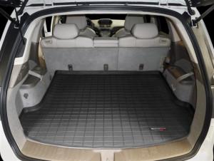 Acura MDX 2007-2013 - Коврик резиновый в багажник, 5 мест, черный. (WeatherTech) фото, цена