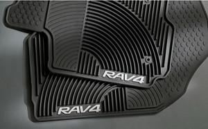 Toyota Rav 4 2006-2012 - Коврики резиновые, черные, комплект 4 штуки. (Toyota) фото, цена