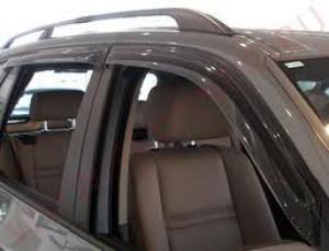 BMW X5 2008-2012 - Дефлекторы окон (ветровики), комплект 4 штуки, темные. (EGR) фото, цена