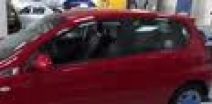 Chevrolet Aveo 2005-2012 - (хэтчбек) - Дефлекторы окон (ветровики), комплект 4 штуки, темные, BREEZE. (EGR) фото, цена