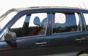 Chevrolet Niva 2002-2012 - Дефлекторы окон, комплект 4 штуки, темные, EGR фото, цена