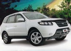Hyundai Santa Fe 2006-2012 - Дефлектор капота, темный, EGR фото, цена