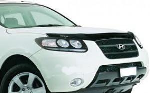 Hyundai Santa Fe 2006-2012 - Дефлектор капота, темный, с надписью, EGR фото, цена