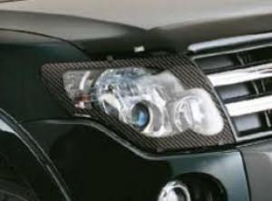 Hyundai Santa Fe 2006-2012 - Защита передних фар, карбон, EGR фото, цена