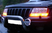 Jeep Grand Cherokee 1999-2001 - Дефлектор капота, темный, EGR фото, цена