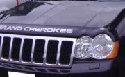 Jeep Grand Cherokee 2005-2010 - Дефлектор капота, темный, с надписью. (EGR) фото, цена