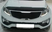 Kia Sportage 2010-2012 - Дефлектор капота, темный, с надписью, EGR фото, цена