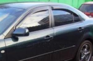 Mazda 6 2002-2007 - (h/b) - Дефлекторы окон, комплект 4 штуки, темные, EGR фото, цена