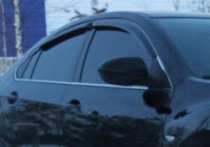 Mazda 6 2008-2012 - Дефлекторы окон, комплект 4 штуки, темные, EGR фото, цена
