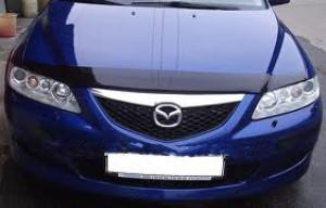 Mazda 6 2002-2007 - Дефлектор капота, темный, EGR фото, цена