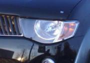 Mitsubishi L 200 2007-2009 - Защита передних фар, прозрачная, EGR  фото, цена