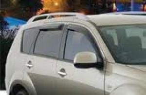 Mitsubishi Outlander 2007-2012 - Дефлекторы окон, комплект 4 штуки, темные, EGR фото, цена