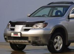 Mitsubishi Outlander 2003-2006 - Дефлектор капота, темный, EGR фото, цена