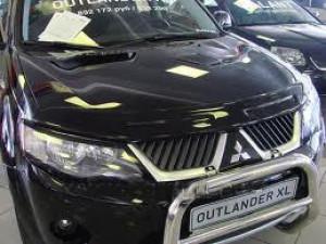 Mitsubishi Outlander 2007-2009 - Дефлектор капота, темный, широкий, EGR фото, цена