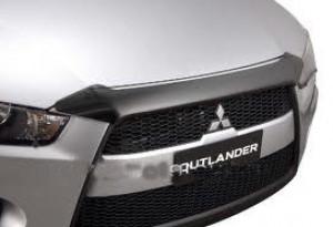 Mitsubishi Outlander 2010-2012 - Дефлектор капота, темный, EGR фото, цена