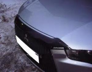 Mitsubishi Outlander 2010-2012 - Дефлектор капота, темный, с надписью, EGR фото, цена