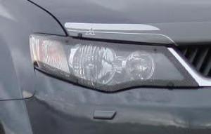 Mitsubishi Outlander 2007-2009 - Защита передних фар, карбон, EGR фото, цена