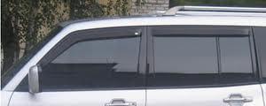 Mitsubishi Pajero 2000-2013 - Дефлекторы окон, комплект 4 штуки, темные, EGR фото, цена