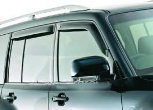 Mitsubishi Pajero 2007-2012 - Дефлекторы окон, комплект 4 штуки, темные, EGR фото, цена