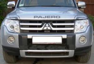 Mitsubishi Pajero 2007-2012 - Дефлектор капота, серебристо-серый, EGR фото, цена