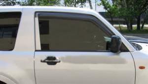 Mitsubishi Pajero 2000-2012 - 3DR - Дефлекторы окон, комплект 2 штуки, дымчатые, EGR фото, цена