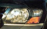 Mitsubishi Pajero 2000-2006 - Защита передних фар, прозрачная, EGR  фото, цена
