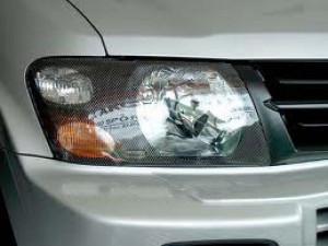 Mitsubishi Pajero 2000-2006 - Защита передних фар, карбон, EGR фото, цена