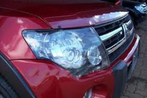 Mitsubishi Pajero 2007-2012 - Защита передних фар, прозрачная, EGR  фото, цена