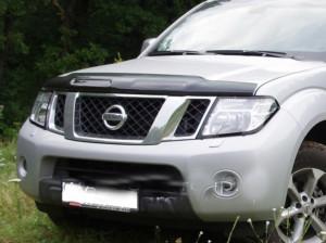Nissan Navara 2010-2012 - Дефлектор капота, темный, EGR фото, цена