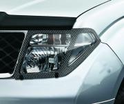 Nissan Navara 2005-2010 - Защита передних фар, карбон, EGR фото, цена
