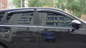 Nissan Qashqai 2009-2012 - Дефлекторы окон, комплект 4 штуки, темные, EGR фото, цена