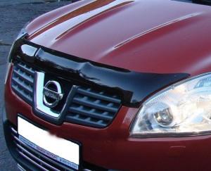 Nissan Qashqai 2007-2009 - Дефлектор капота, темный, EGR фото, цена