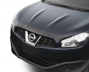 Nissan Qashqai 2010-2012 - Дефлектор капота, темный, EGR фото, цена