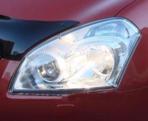Nissan Qashqai 2007-2009 - Защита передних фар, прозрачная, EGR  фото, цена