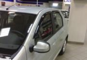 Renault Logan 2004-2012 - Дефлекторы боковых окон, комплект 4 штуки, темные, BREEZE, EGR фото, цена