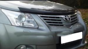 Toyota Avensis 2009-2012 - Дефлектор капота, темный, EGR фото, цена