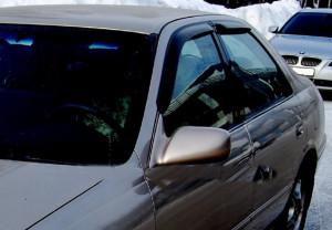 Toyota Camry 1997-2001 - Дефлекторы окон, комплект 4 штуки, темные. (EGR) фото, цена