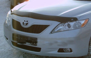 Toyota Camry 2006-2011 - Дефлектор капота, дымчатый. (EGR) фото, цена