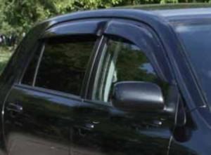 Toyota Corolla 2002-2006 - (H/b) - Дефлекторы окон, комплект 4 штуки, темные, EGR фото, цена