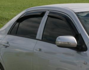 Toyota Corolla 2006-2012 - Дефлекторы окон, комплект 4 штуки, темные, EGR фото, цена