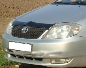 Toyota Corolla 2002-2005 - Дефлектор капота, темный. EGR фото, цена