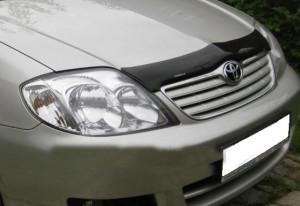 Toyota Corolla 2002-2005 - Дефлектор капота, темный, с надписью. EGR фото, цена
