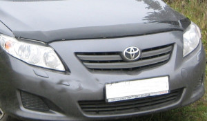 Toyota Corolla 2006-2012 - Дефлектор капота, темный. EGR фото, цена