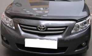 Toyota Corolla 2006-2012 - Дефлектор капота, темный EGR фото, цена