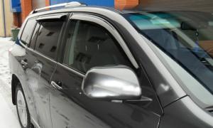 Toyota Highlander 2008-2013 - Дефлекторы окон, комплект 4 штуки, темные, EGR фото, цена