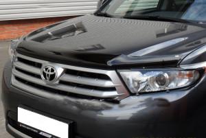 Toyota Highlander 2010-2013 - Дефлектор капота, темный (EGR) фото, цена