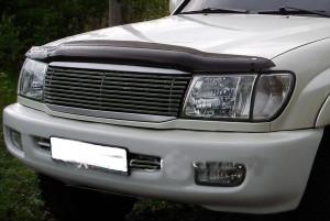 Toyota Land Cruiser 1998-2007 - Дефлектор капота, темный. (EGR) фото, цена