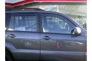 Toyota Land Cruiser Prado 2003-2008 - Дефлекторы окон, комплект 4 штуки, дымчатые. (EGR) фото, цена